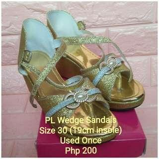 PL Wedge Sandals (Size 30)