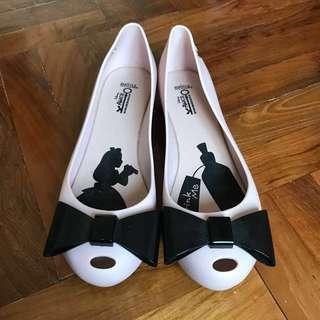 Melissa 粉紅/黑 雨鞋