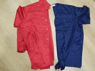 Silk pyjamas (2 for rm10)