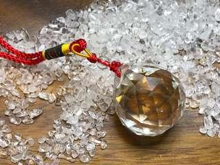Faceted cut crystal ball for Feng shui (man-made Glass)