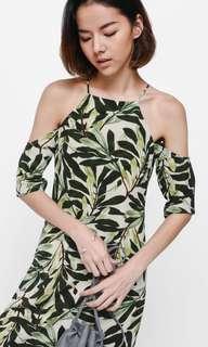 Love Bonito Oshara Printed off shoulder Midi Dress