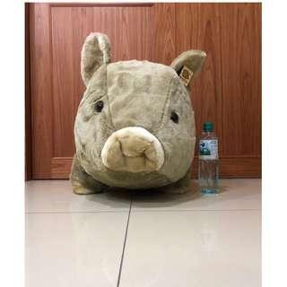 超大山豬娃娃~豬玩偶~長80公分~巨無霸野豬娃娃