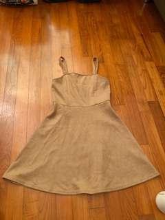 H&M Nude suede dress