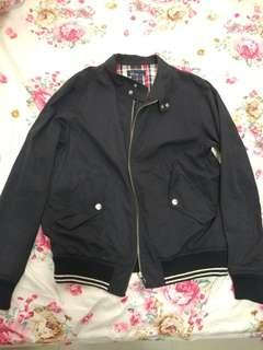 Fred Perry Navy 深藍色外套 jacket size : JP XS