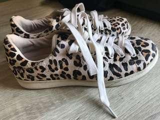 Zara Leopard Print Sneakers
