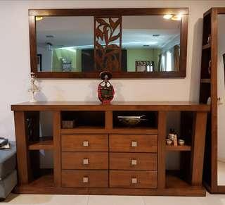 Cabinet Side Board With Wall Mirror