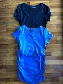Pea in the Pod Ruched Maternity Tops (Blue or Black)