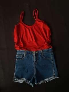 Top and shorts bundle
