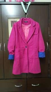 🚚 全新深紫紅大衣外套