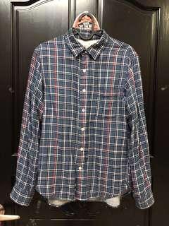 🚚 無印良品 格紋 襯衫 休閒 襯衫 舒服棉