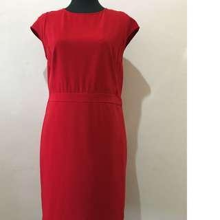 PADINI Bright Red Knee Length Dress