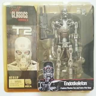 "TERMINATOR T2 ENDOSKELETON NECA CULT CLASSICS 7"" SERIES 3 BRAND NEW MOC!!!"