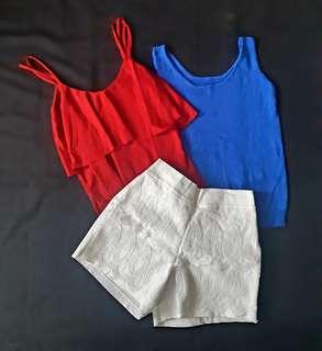 Tops and Mermaid Shorts Bundle