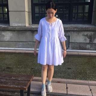 韓版女裝寬松顯瘦圓領氣質娃娃裙連衣裙