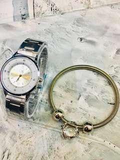 CK watch with bracelet