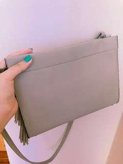 🚚 CHEAP GREY W/ TASSEL BAG