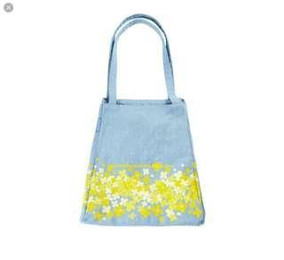 Starbucks korea rape flower canvas Tote Bag