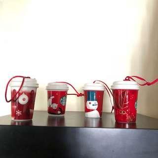 Starbucks 4 個聖誕吊飾(冇包裝)