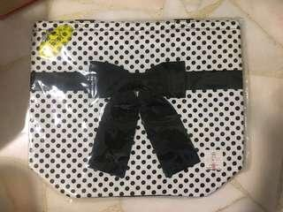 Naraya Shoulder tote Bag BN polka dot black