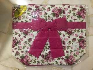 BN Naraya Shoulder Bag dark pink floral ribbon