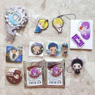 Clearance - Kuroko no Basket assorted merch