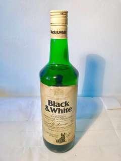 Scotch Whiskey- Black & White ( Vintage Bottle )