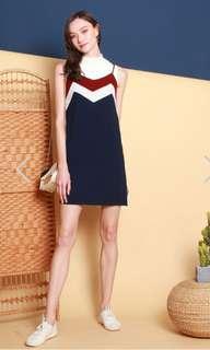 BNWT Anticlockwise ACW colourblock slip dress in
