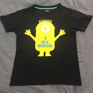 Uniqlo Despicable Me 1 in a Minion Tshirt Kids Boys Girls