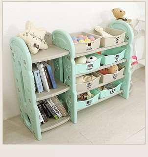 Free delivery kids toy racks storage bookshelf