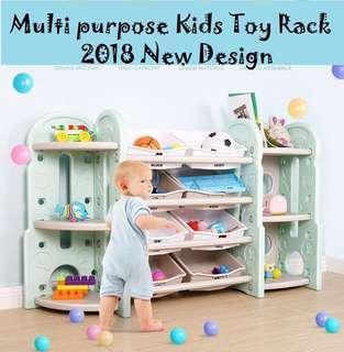 Multi- Purpose Free delivery kids toy rack bookshelf