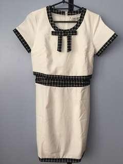Brand New Hue White Checked Dress