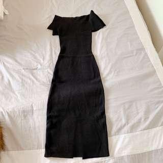 Forever New Bardot Bodycon Black Dress