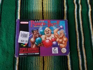 Super Nintendo Video Game Super Punch Out in Box