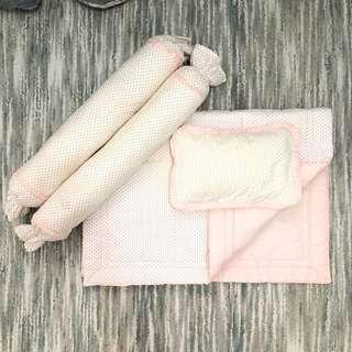Zyji Baby Beddings & Pillows (Pink Polka Dots)