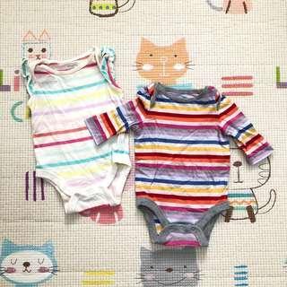 Baby Gap Striped Onesies (Bundle)