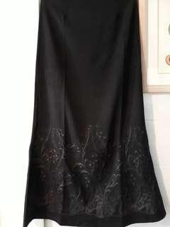Long skirt mival black size S