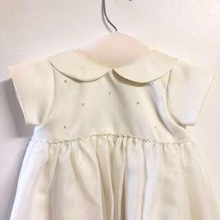 Long Baptismal Gown (Off-White, NB-6M)