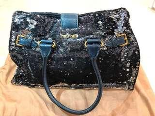 95fa5420910 Authentic MIU MIU  limited edition  Dark blue Handbag