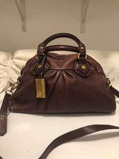 Burgundy Marc by Marc Jacobs Bowling Bag