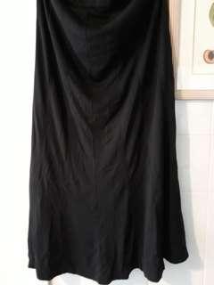 Black long skirt mival xl