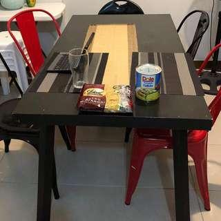 Hardwood Dining Table chairs not included