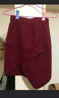 🚚 交叉針織短裙