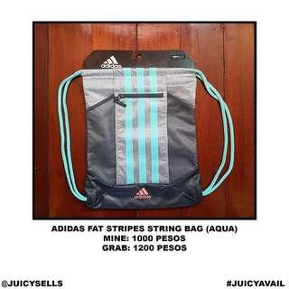 26a663b2f712 Adidas Fat Stripes String Bag (Aqua)