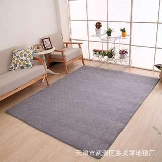 Coral Fleece Hexagon Grey Carpet 160x230cm