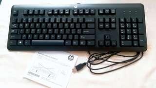HP 有線鍵盤