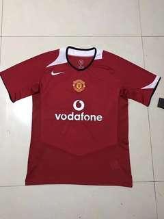 Retro Manchester United 05-06 jersey home kit Manchester United throwback jersey vintage Manchester United kit