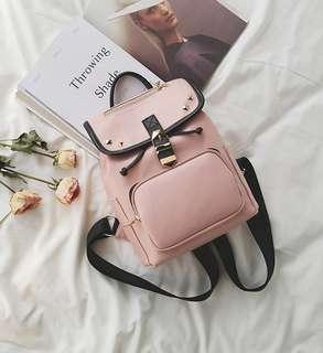 Ransel import zara pink studded Stradivarius pullbear tas punggung sekolah backpack korea murah