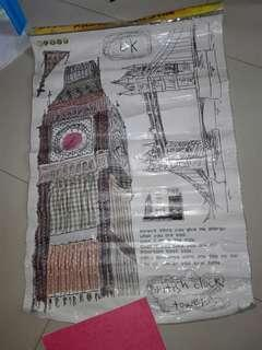 Wall sticker jumbo UK jam big ben