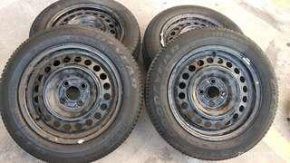 Rim besi honda city spec s
