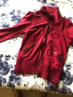 Guess maroon jacket size small